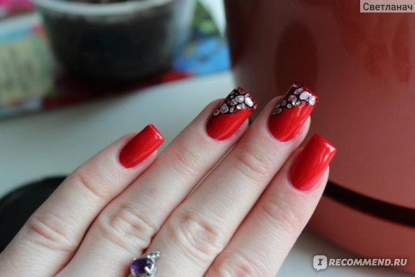 Дизайн ногтей красный гель лак фото