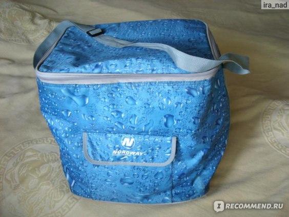 Эта сумка-холодильник досталась в качестве бонуса в магазине СПОРТМАСТЕР.  Сделана в Китае, фирма NORDWAY.