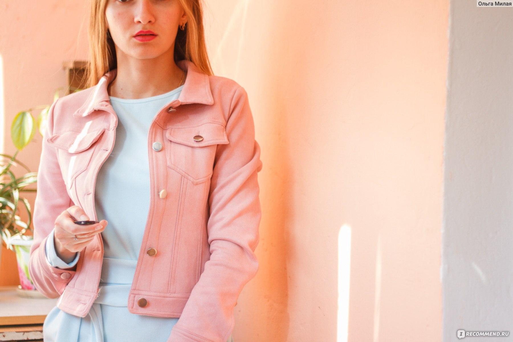 b71eb436a Джинсовка AliExpress Toplook Pink Suede Jackets Women 2017 New ...