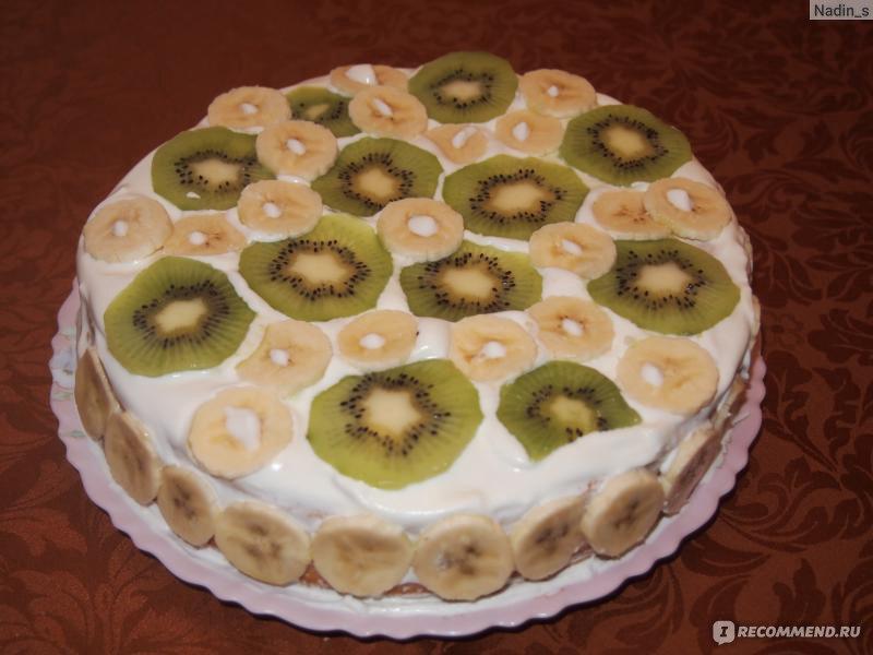 Как сделать торт из коржей покупных со сгущенкой и маслом для торта