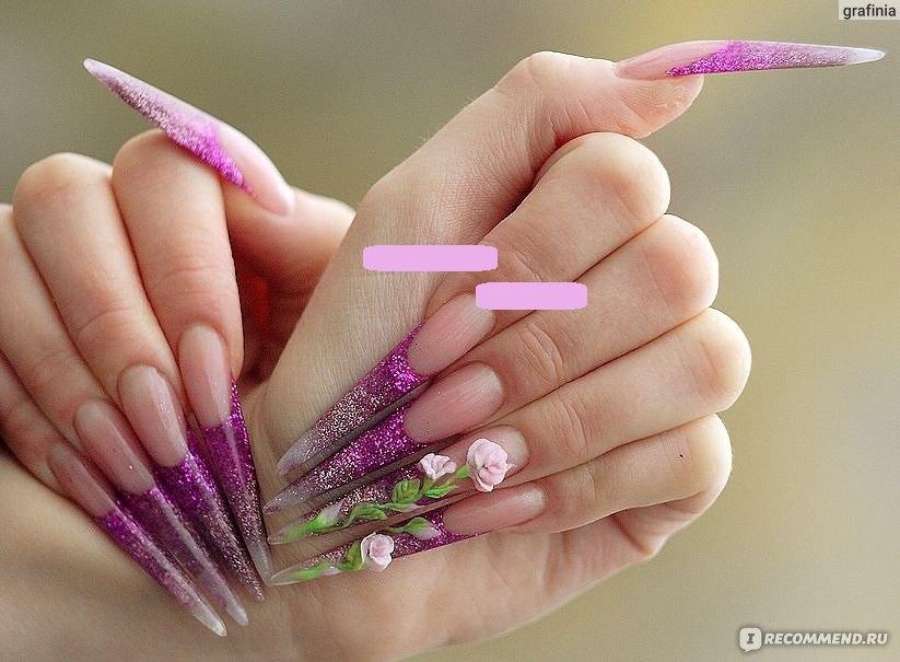 Нарощенные ногти фото со всех сторон
