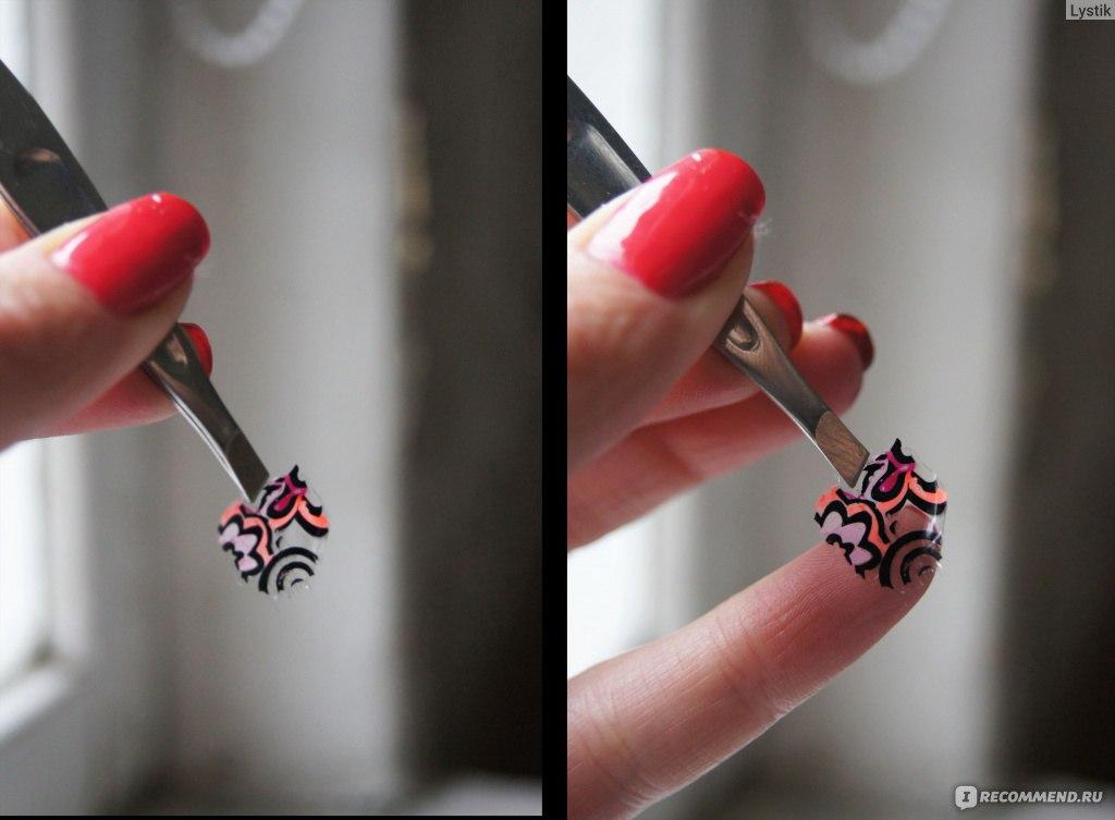 Как сделать наклейки из лаков для ногтей