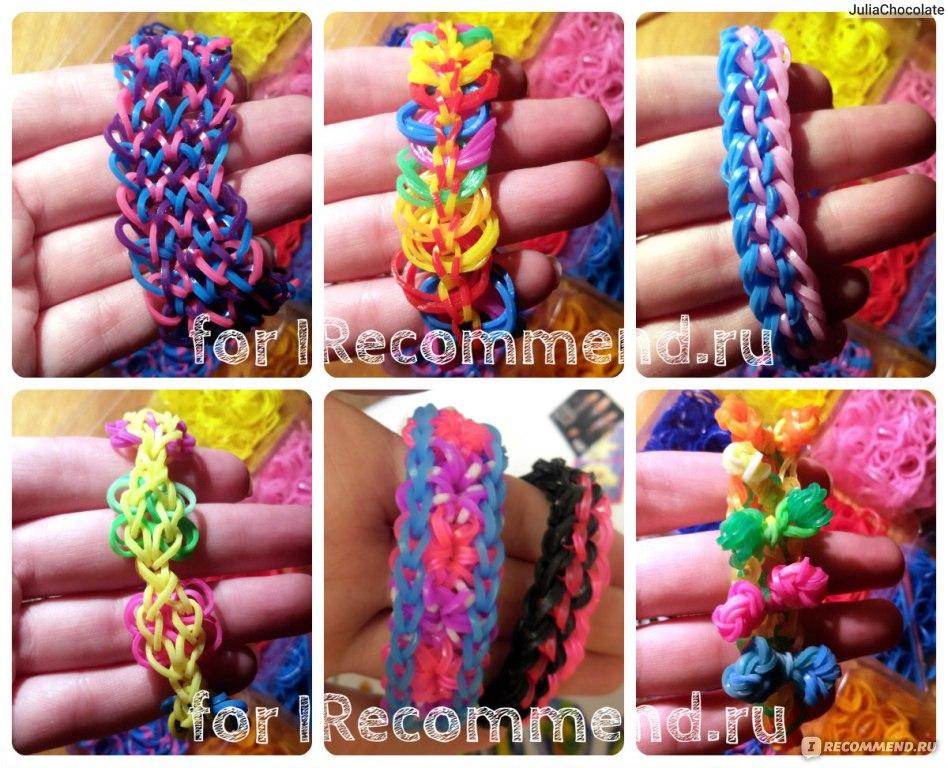 Широкие браслеты из резинок для плетения