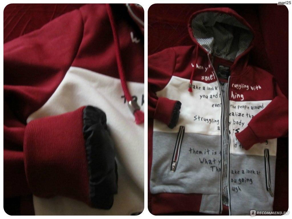 5b5f4e69 Толстовка AliExpress New Casual Patchwork Men Sports Coats Size M-2XL  Letter Print Design Man