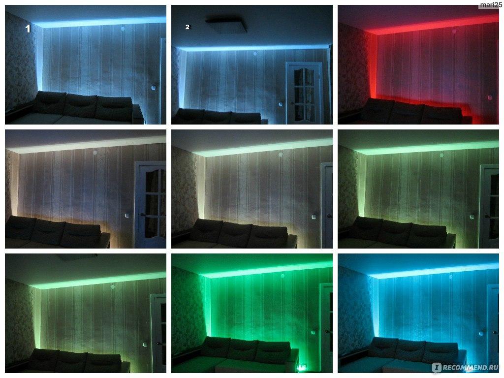 Светодиодная подсветка стен своими руками 741
