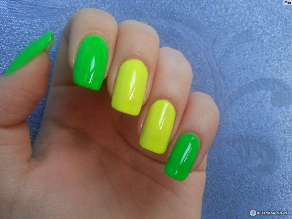 Фото ногтей салатового цвета