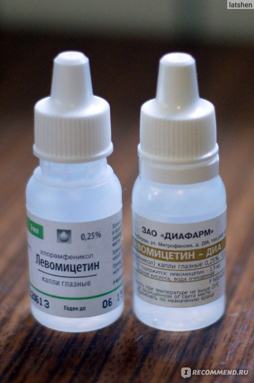 левомицетин глазные капли аллергия