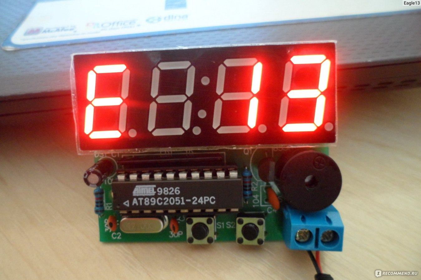 496eaf33 Часы-будильник Ebay New C51 4 Bits Digital Electronic Clock Production  Suite DIY Kits F5