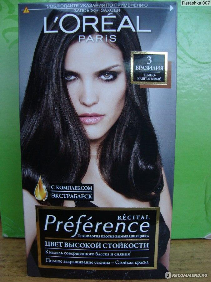 Краска для волос лореаль преферанс каштановый