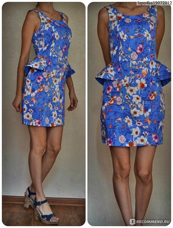 Платье золла в цветочек