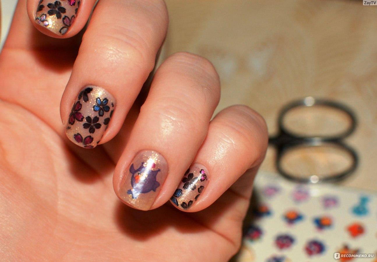 Розовая пантера на ногтях фото
