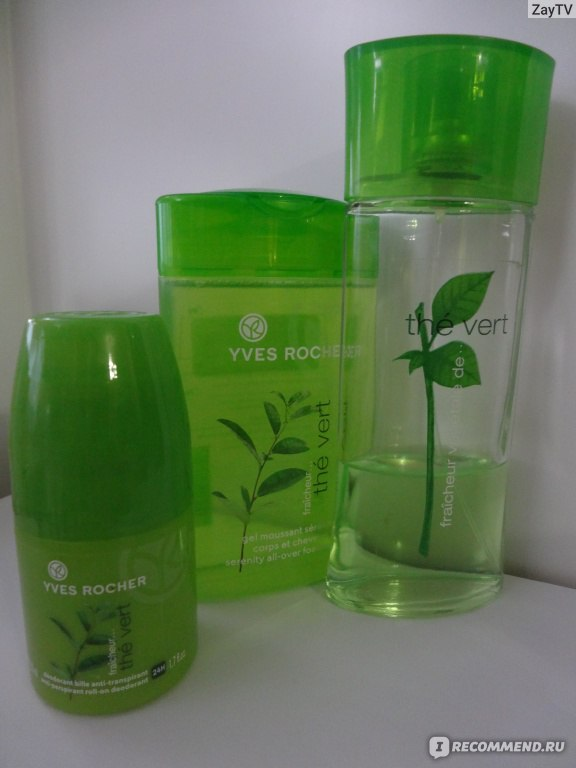 ив роше вода зеленый чай