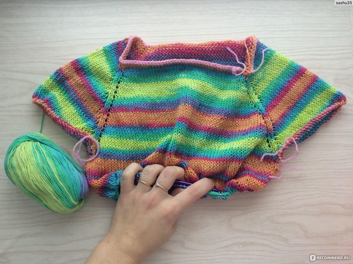 вязание пледа из пряжи ализе puffy