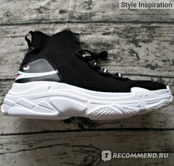 cf21bf281b78 Кроссовки мужские Aliexpress FEOZYZ Shark Sneakers Women Men Knit Upper  Breathable Sport Shoes Chunky Shoes High