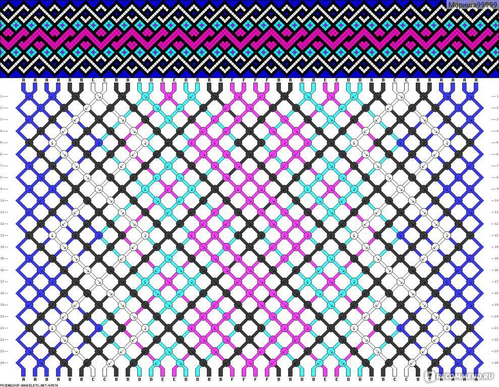 Сложная схема косого плетения