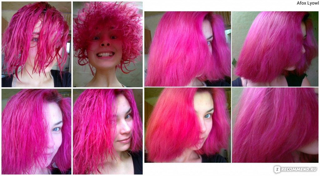 Розовая краска для волос в домашних условиях 445