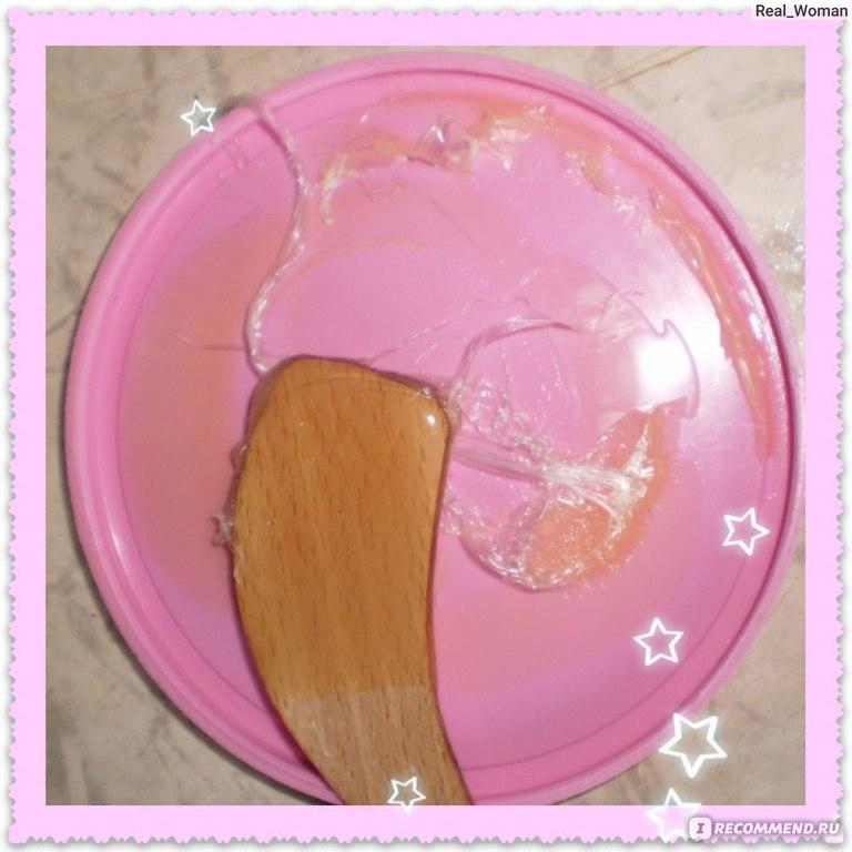 что за розовый воск наносят чтобы удалить волосы