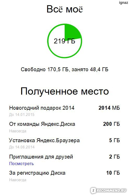 Яндекс диск 200 гб в подарок 5