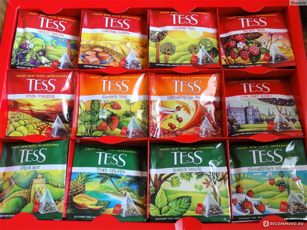 Виды чаев tess