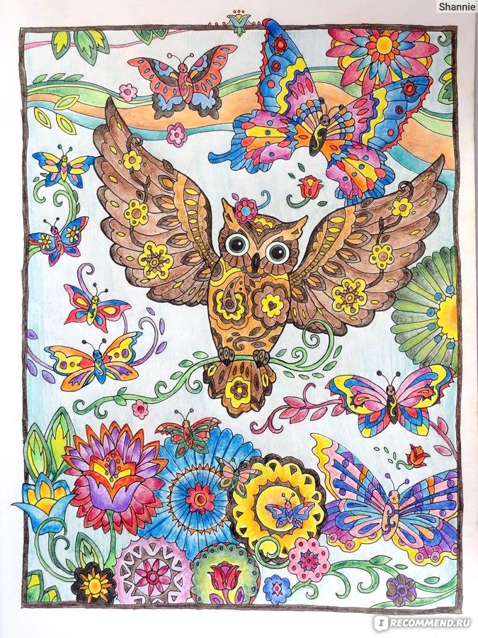совушки Marjorie Sarnat одна из лучших раскрасок