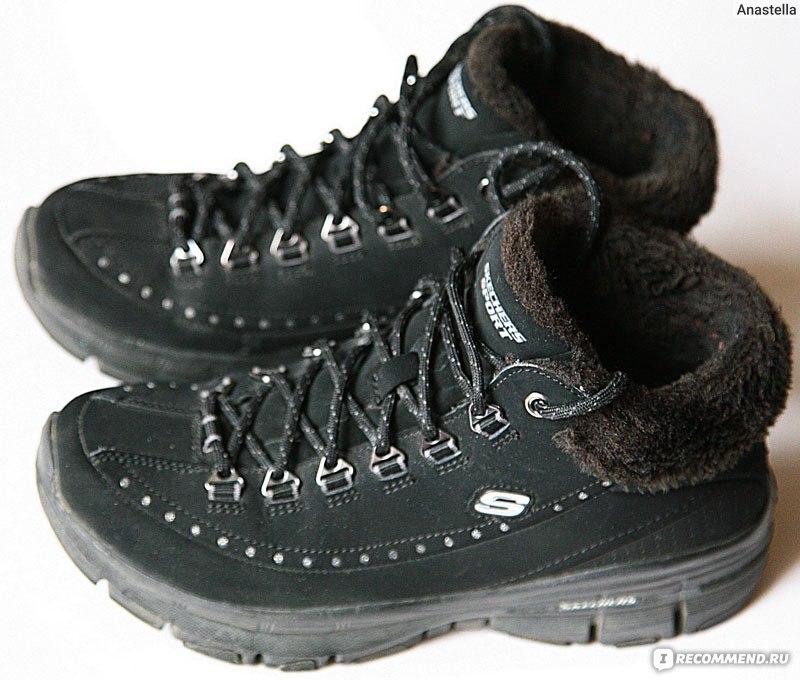 de079d068 Как выглядят ботинки через год. Октябрь 2013. Женские зимние ботинки  SKECHERS