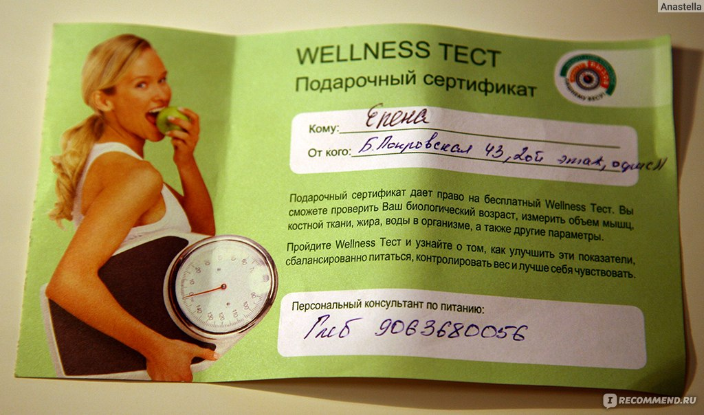 Приглашение на wellness-тест