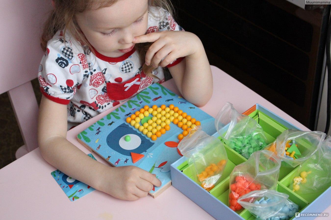 Картинка дети собирают мозаику