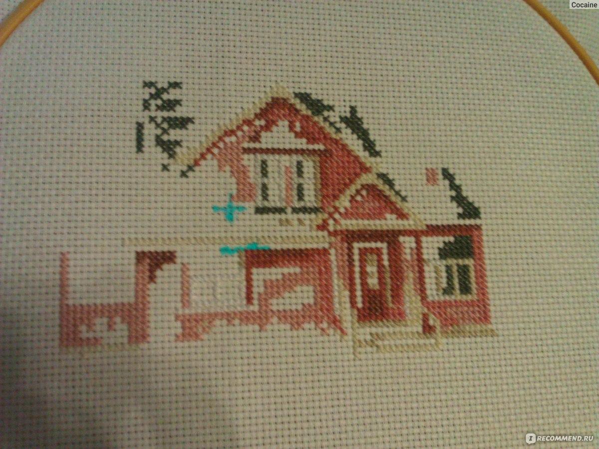 Июльский домик вышивка алиса в