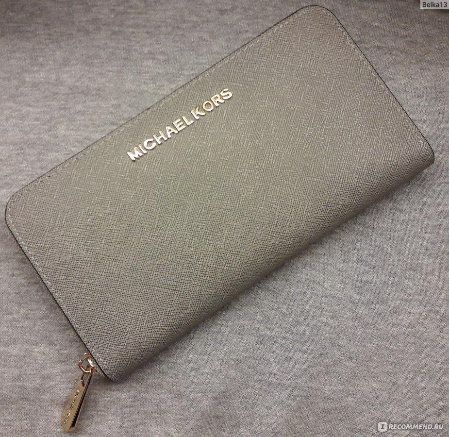 fd13fe6523c5 Кошелек Aliexpress Копия Michael Kors High quality Fashion women long  wallet Genuine Leather single zipper wallets