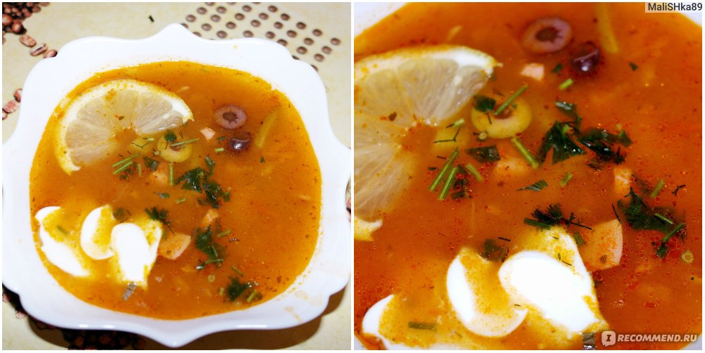 Суп солянка простой