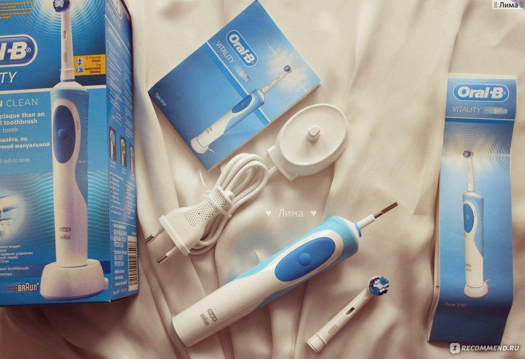 Электрическая зубная щетка Oral-B Vitality Precision Clean   Cross Action  фото 5a72090535840
