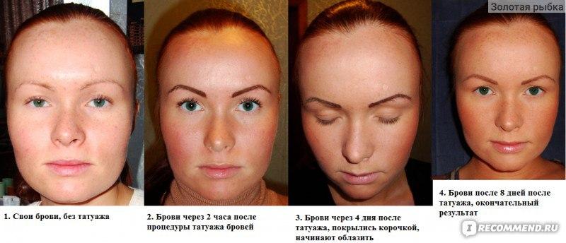Перманентный макияж когда сходят корочки 144
