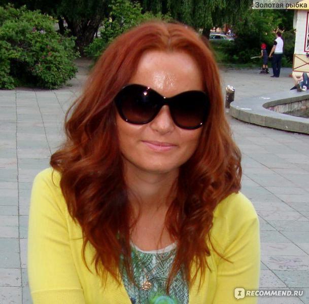 Хна для волос рыжий цвет фото до и после