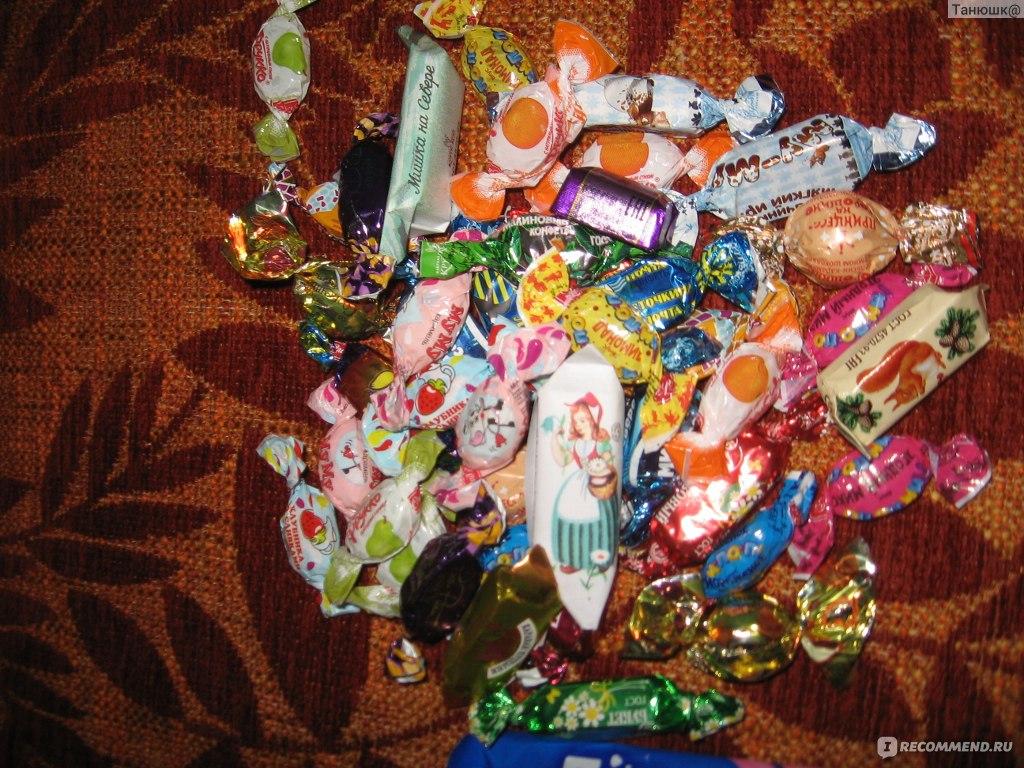 Состав детских Новогодних подарков СладКо конфеты 84