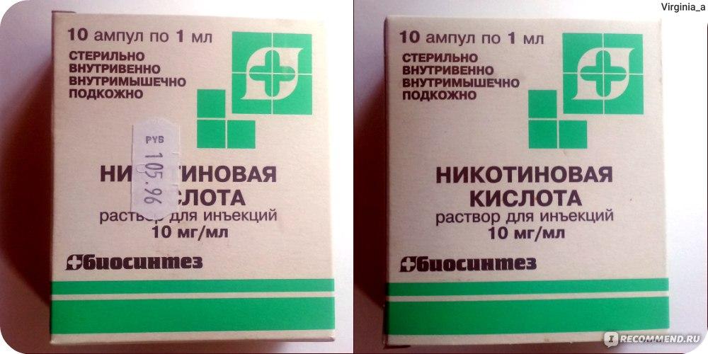 Цены на никотиновая кислота в аптеках Москвы