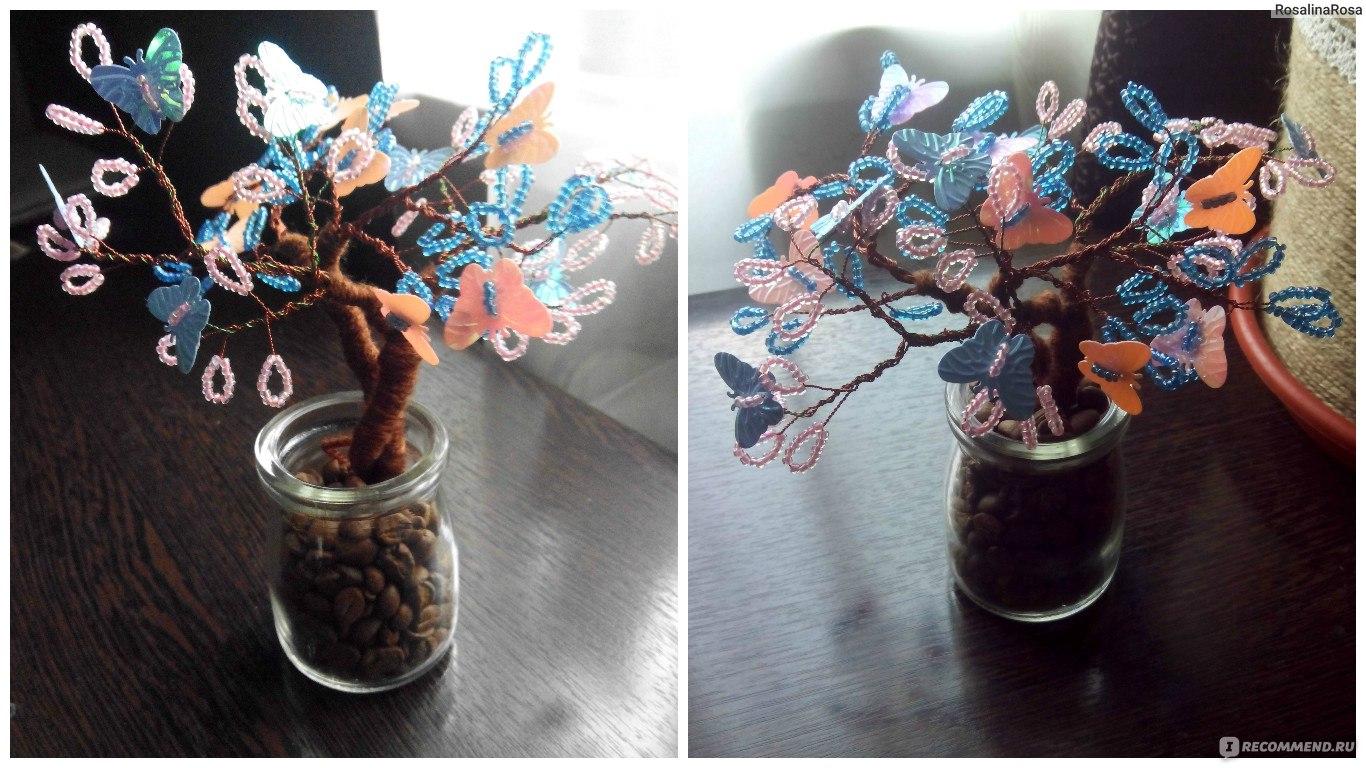 Дерево счастья своими руками из бисера фото