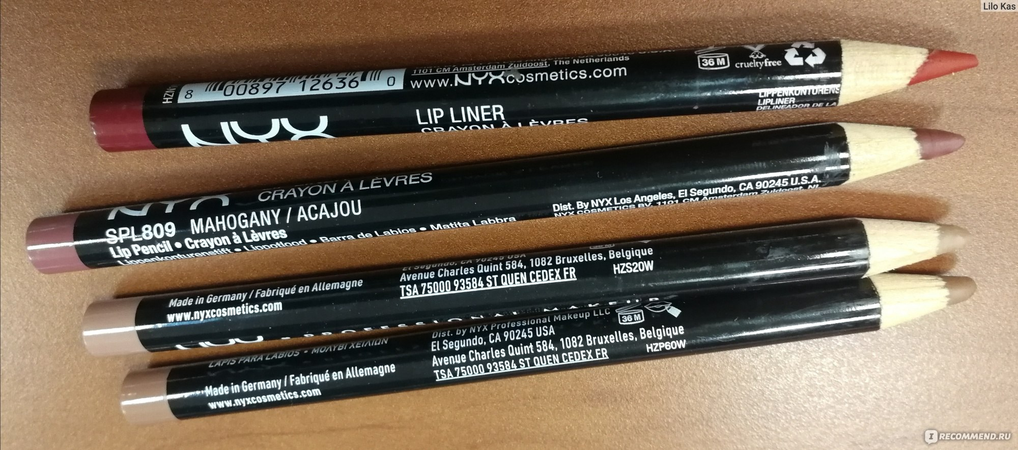 Карандаш для губ NYX Professional Makeup Slim lip pencil