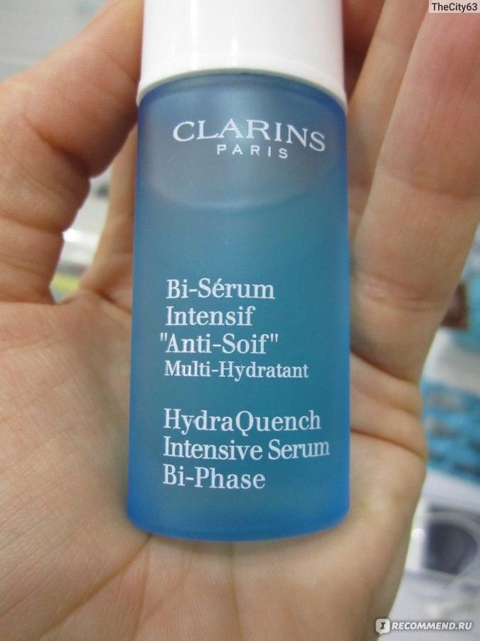 сыворотка для лица clarins hydraquench intensive serum bi-phase