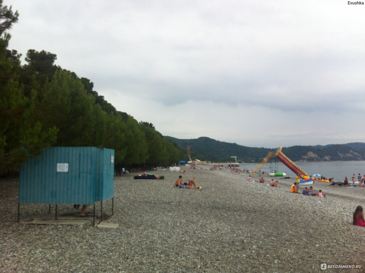 Фото поселка лдзаа пляжей