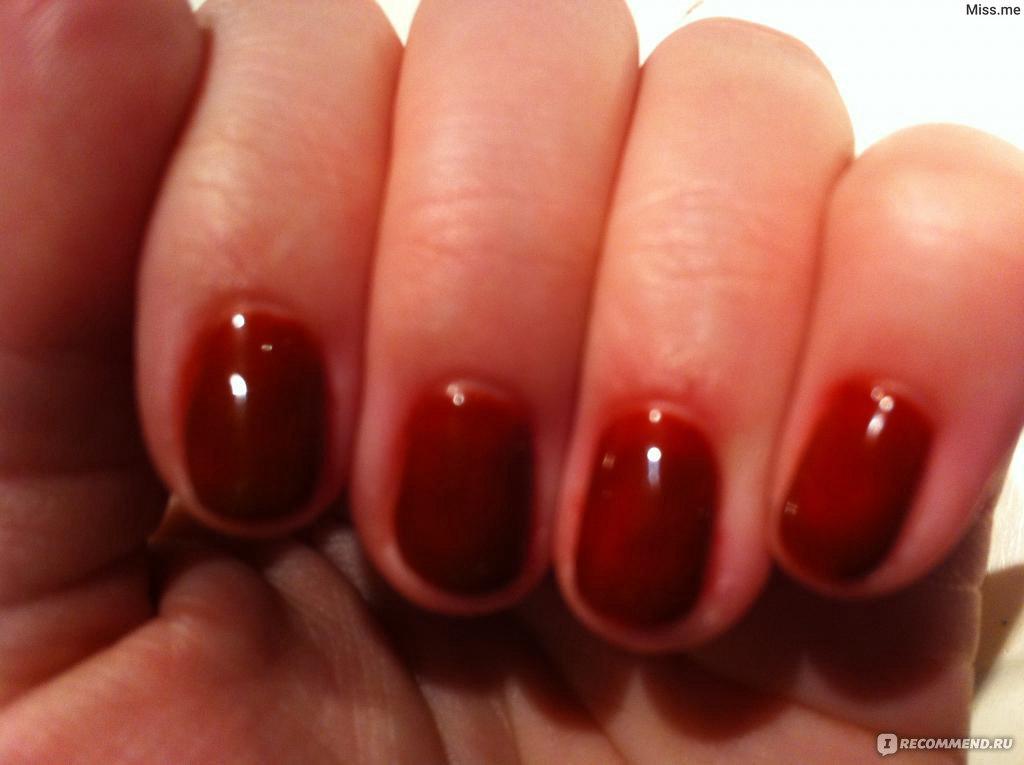 Shellac burnt romance на ногтях
