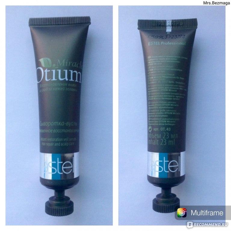 сыворотка вуаль для волос эстель отиум