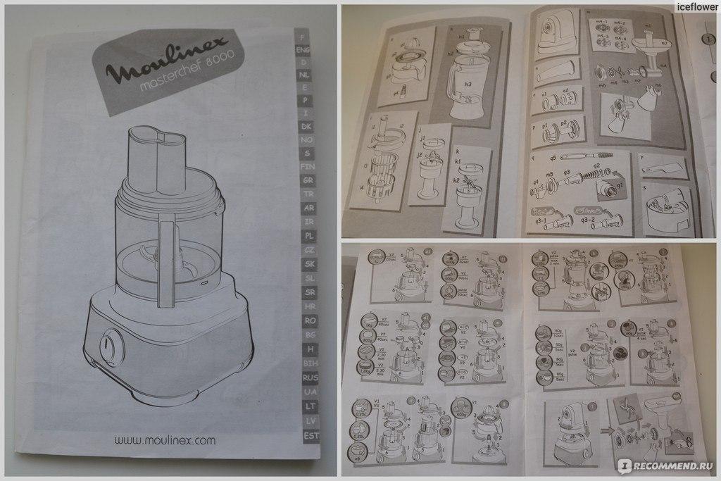 Инструкция К Кух.Комбайну Moulinex С Соковыжималкой