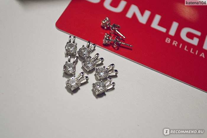 Подвески в подарок от санлайт серебро ли 71