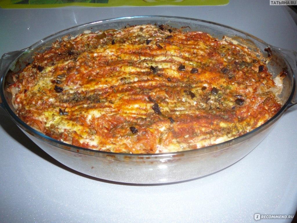 Блюда в духовке в стеклянной форме
