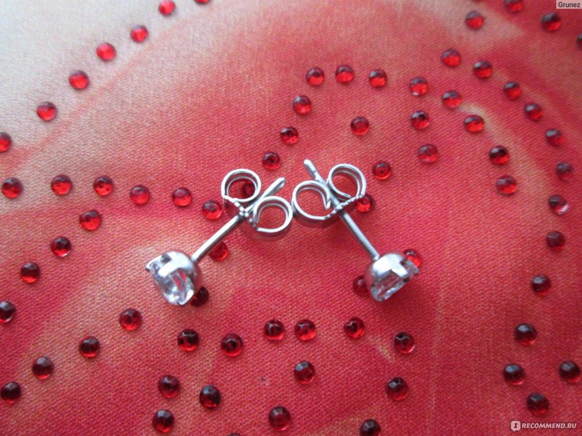 5b512945c55d Серебряные украшения Ювелирная сеть 585 Gold серьги-пуссеты 925 пробы фото