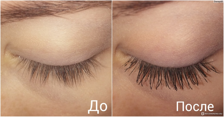 Подкрученные ресницы до и после фото