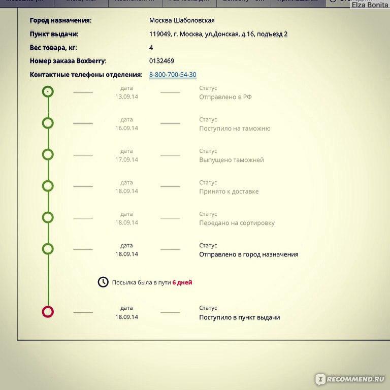 Код отслеживания boxberry nova ion