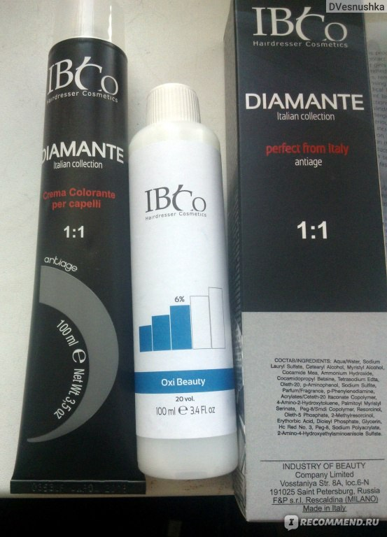 Краска Для Волос Diamante Ibco Инструкция