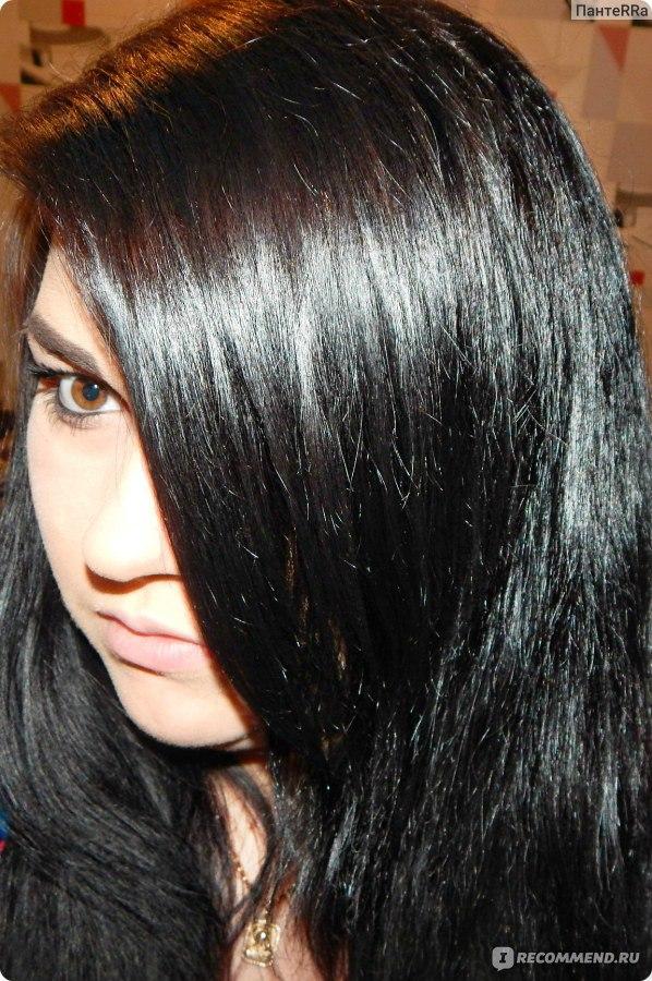 Чёрные волосы в домашних условиях 95