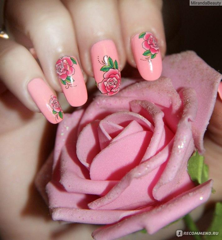Дизайн ногтей с розами фото 164